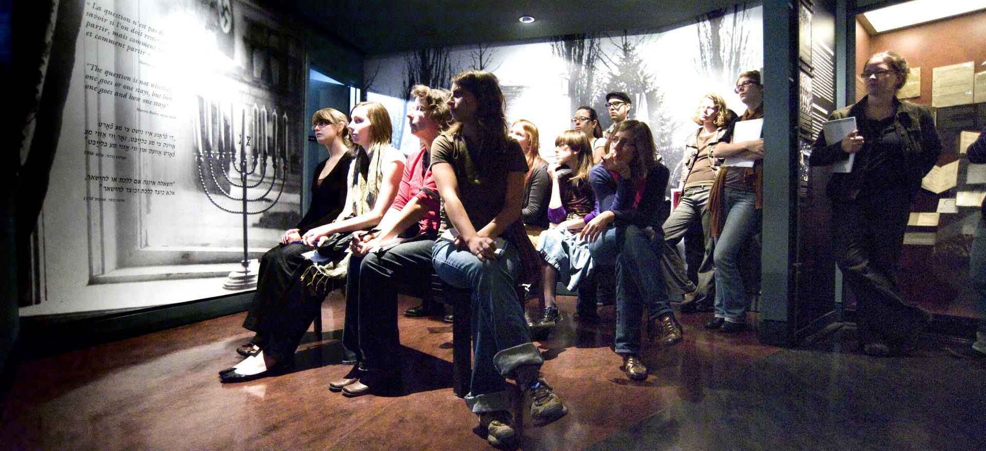 A student group during a guided tour at the Montreal Holocaust Museum