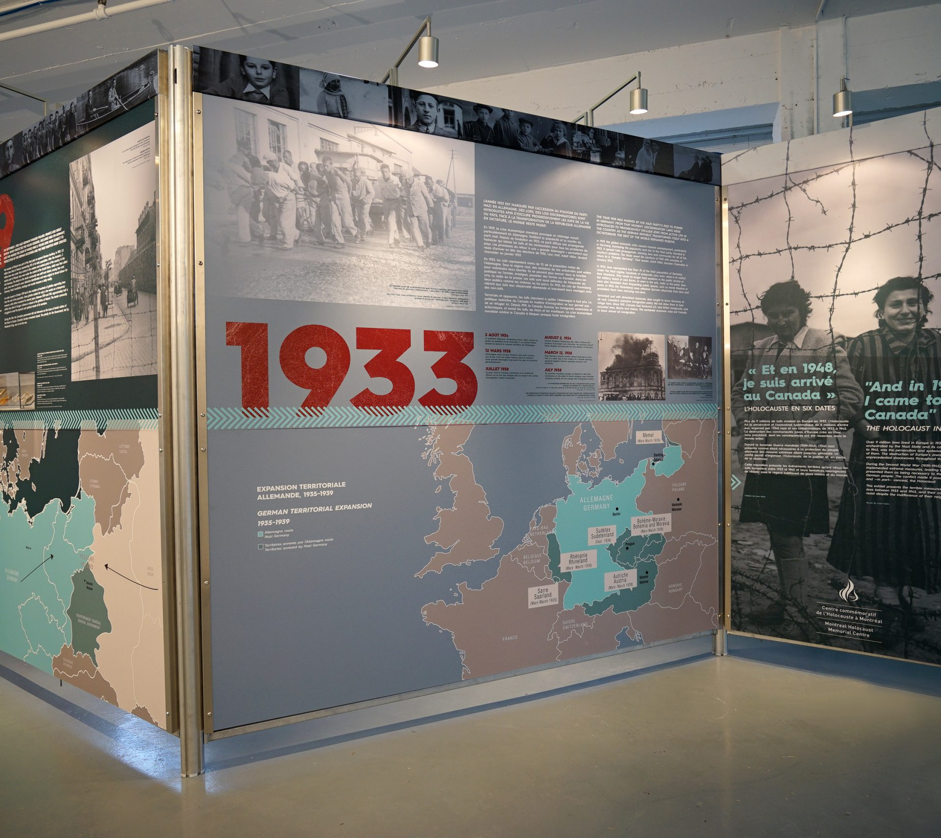 "A look at the 1933 panel of the travelling exhibition, ""And in 1948, I came to Canada"": The Holocaust in Six Dates."""