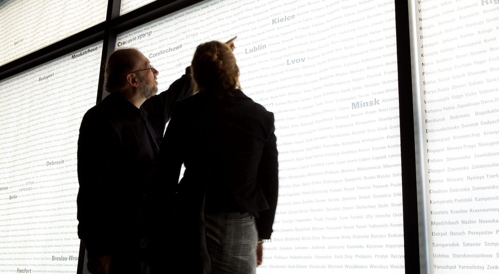 Guide montrant le nom des communautés persécutées pendant l'Holocauste.