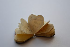 Heart-shaped booklet, Auschwitz, Poland, 1944