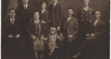 Photo de la famille de Hannah, cousine de Sarah Wolloch, née Rissman, c. 1924