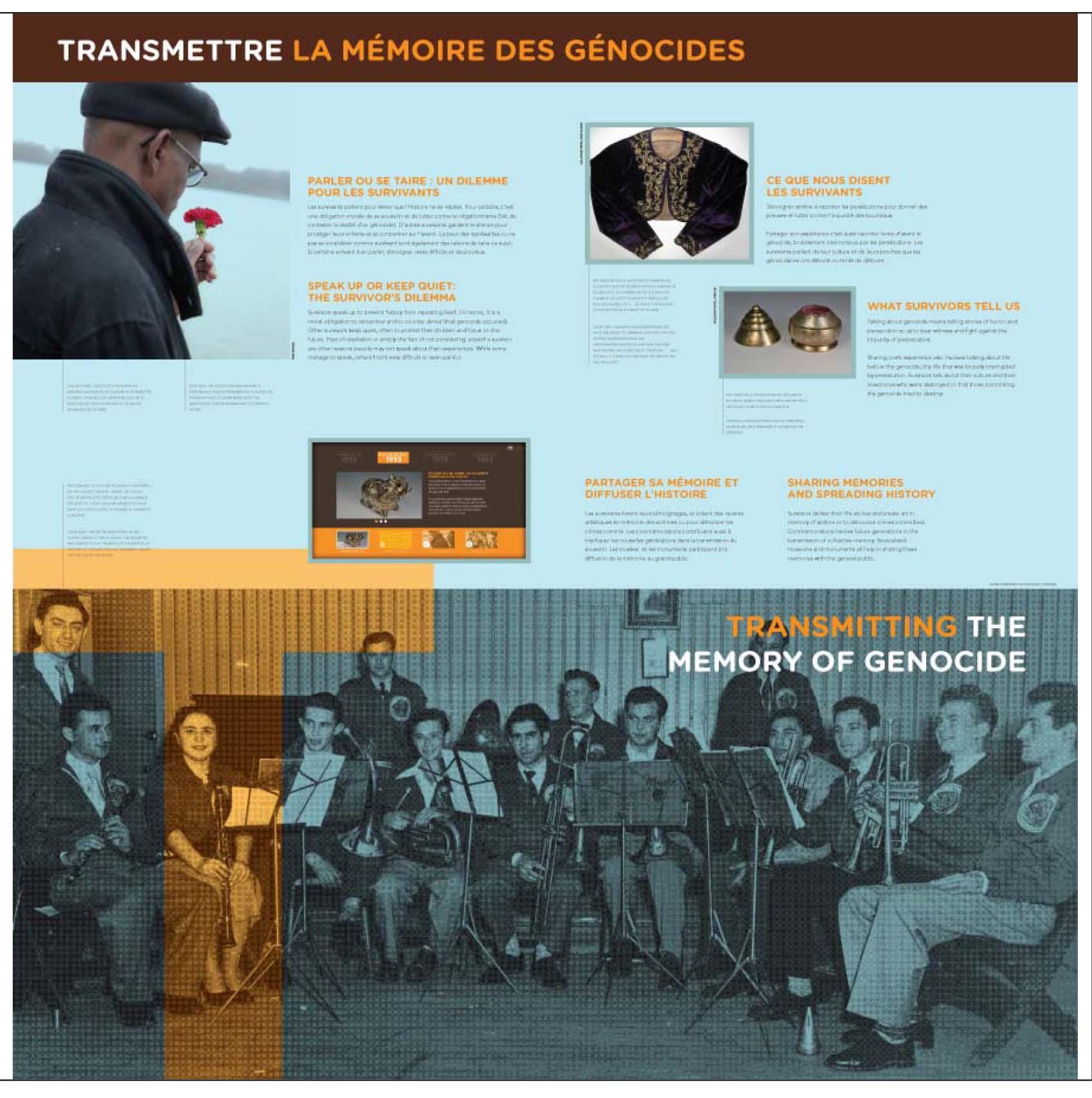 """Aperçu du 2e panneau de l'exposition itinérante Ensemble contre le génocide : comprendre, questionner, prévenir"""""""