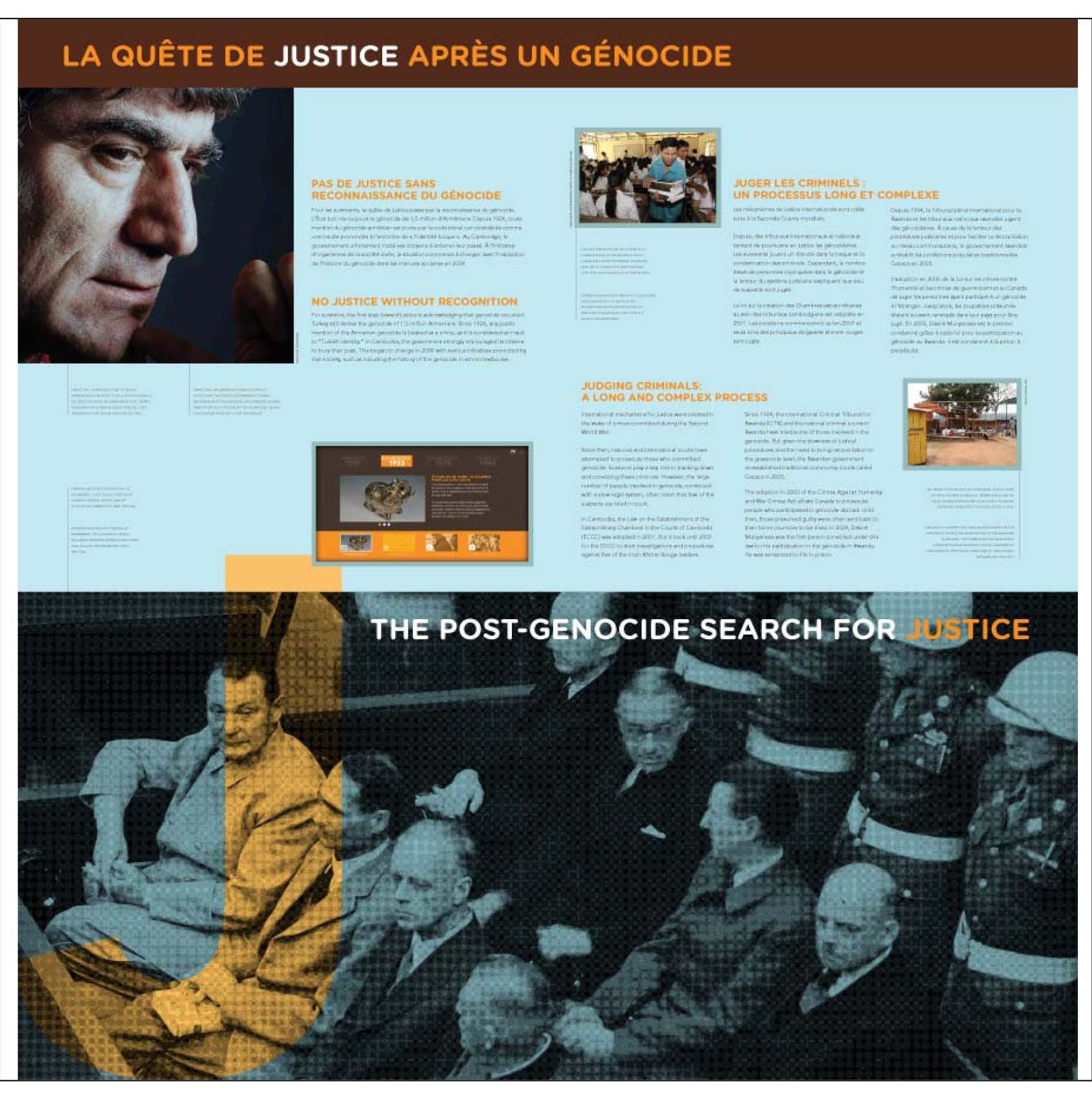 """Aperçu du 3e panneau de l'exposition itinérante Ensemble contre le génocide : comprendre, questionner, prévenir"""""""