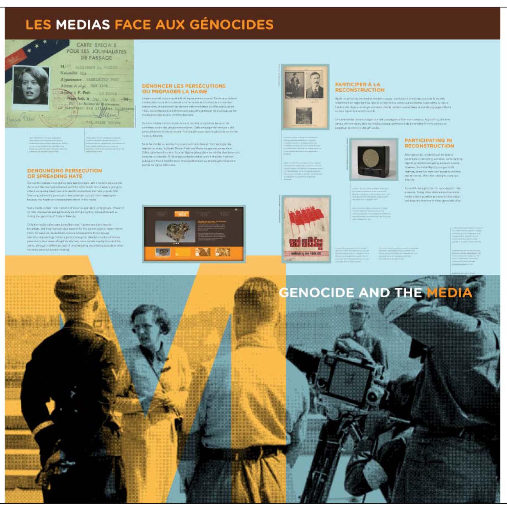 """Aperçu du 4e panneau de l'exposition itinérante Ensemble contre le génocide : comprendre, questionner, prévenir"""""""