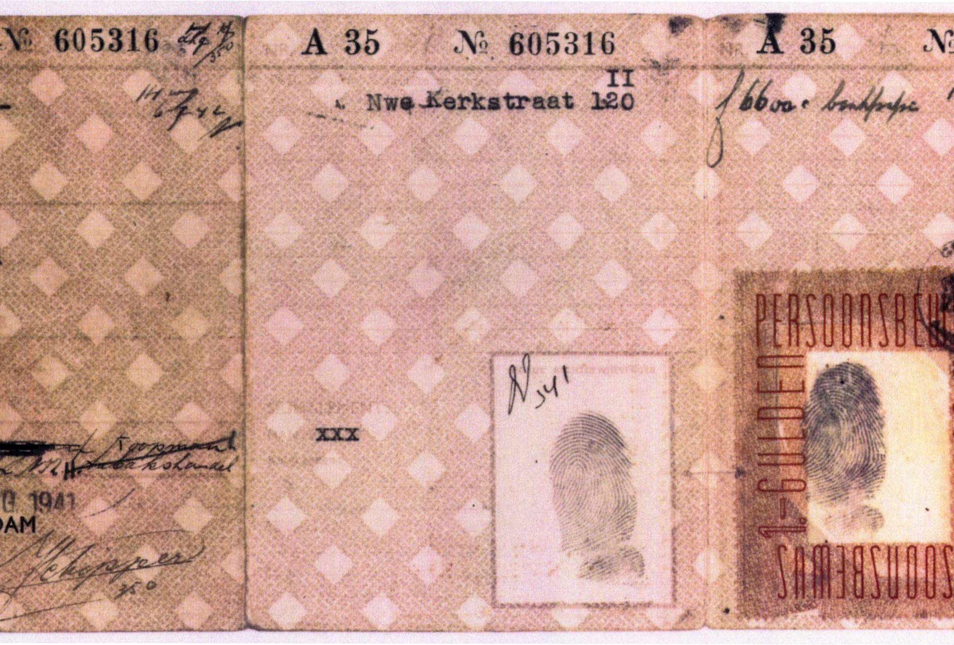 Identity card of Samuel Schryver