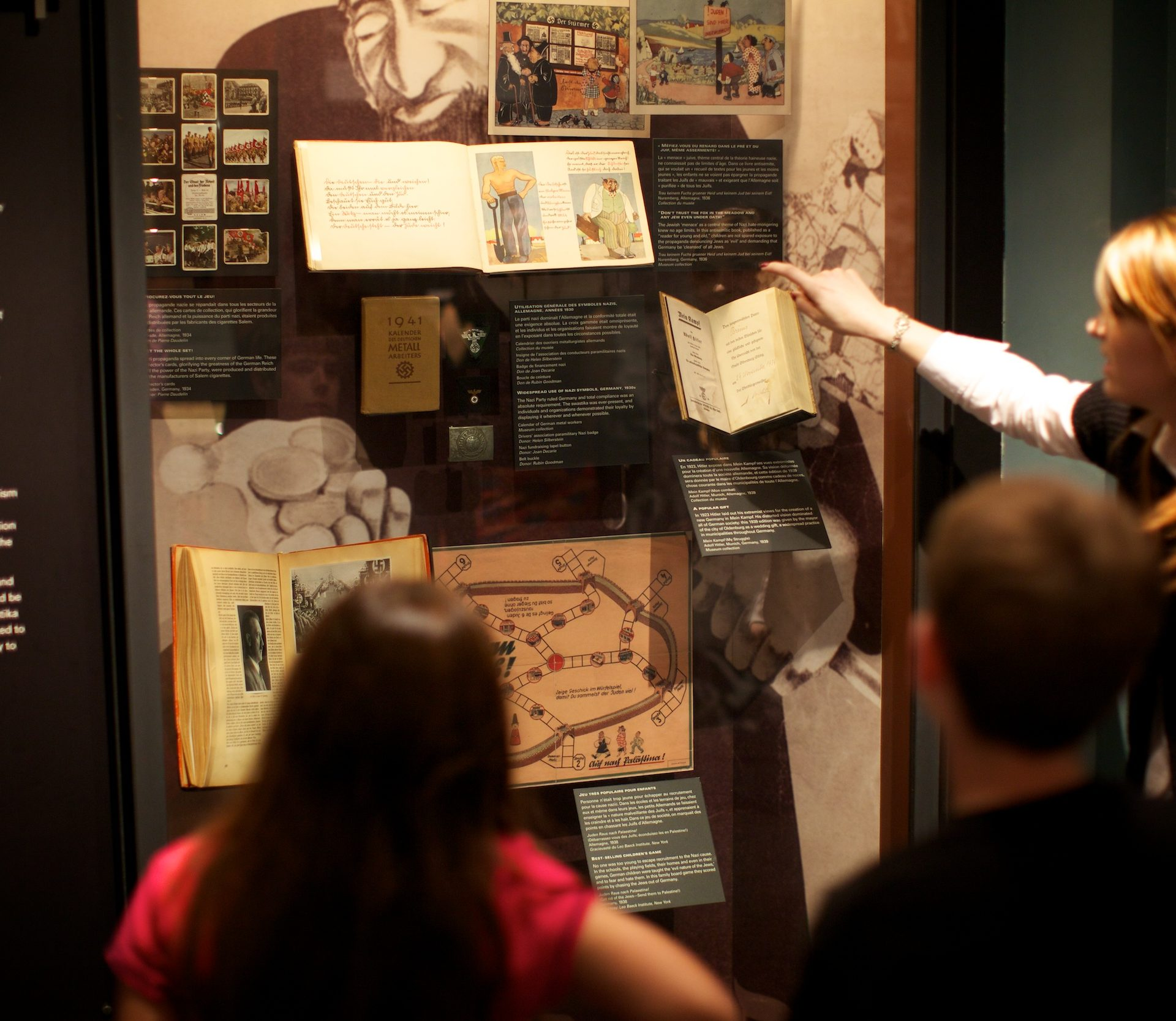 Display about Nazi propaganda and indoctrination of youth. Photo: Vadim Daniel