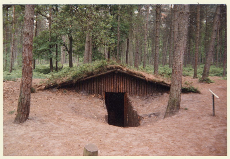 Photo of the secret underground village of Nunspeet, where many Jews, and Russian or English soldiers hid.