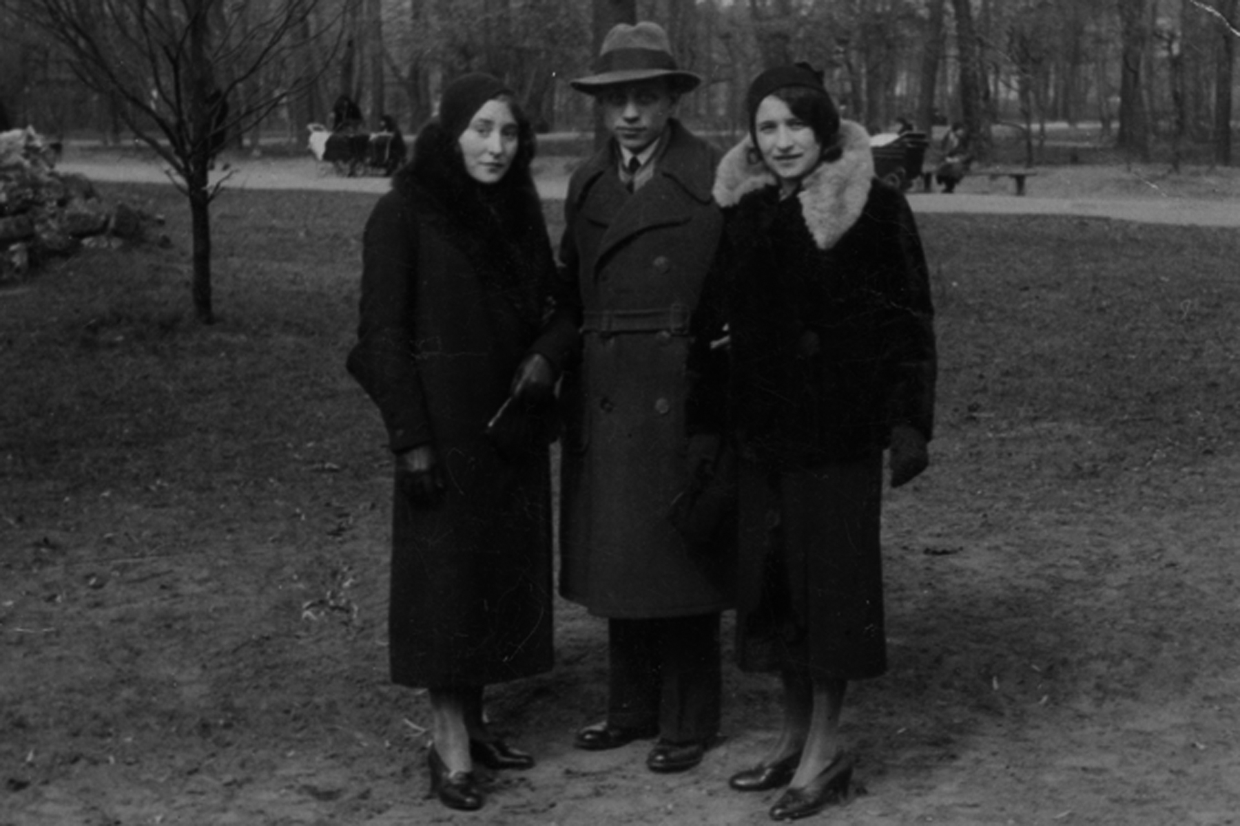 Friends in a park, Paris, 1934.