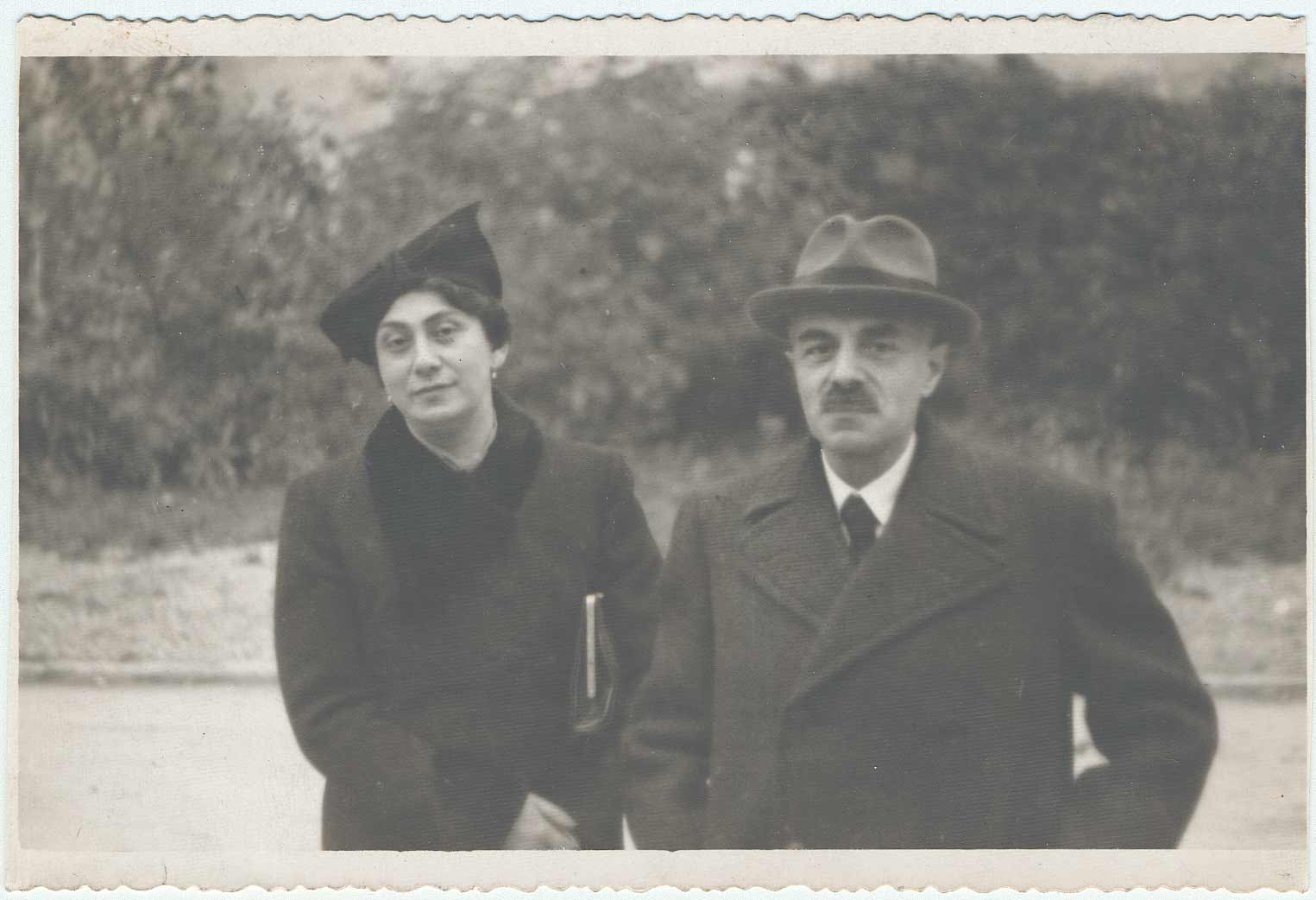 George's parents, Zdena and Otto Ehrman, in 1942 before their deportation. They never returned from the camps..