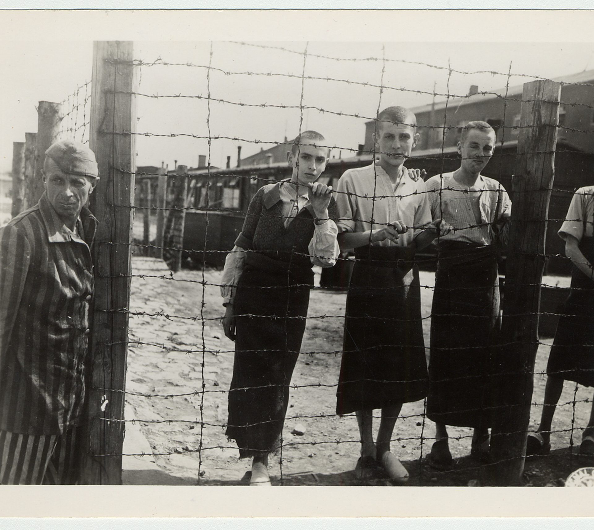 Children surviving the liberation of the Buchenwald concentration camp. April 1945