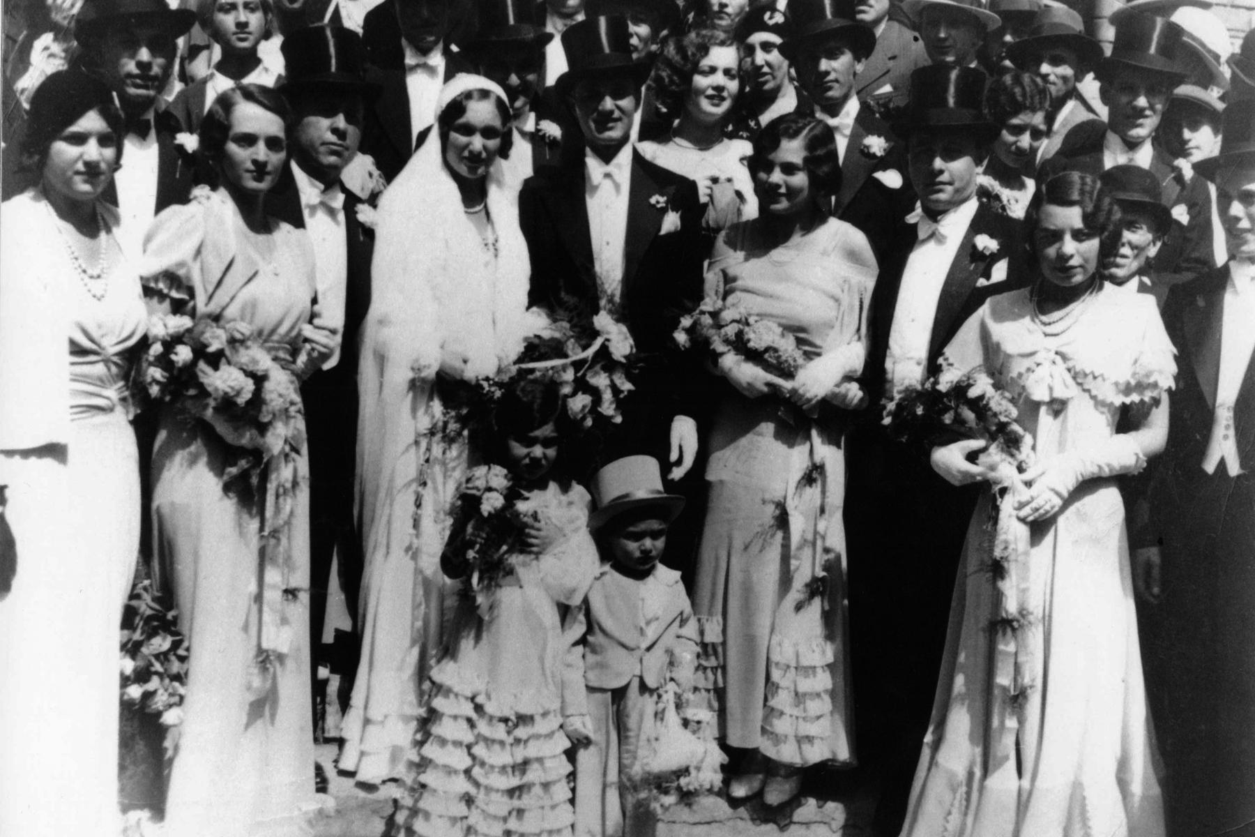 Mariage de Stephan Molnar et Edith Gero, Budapest, Hongrie, 1932.