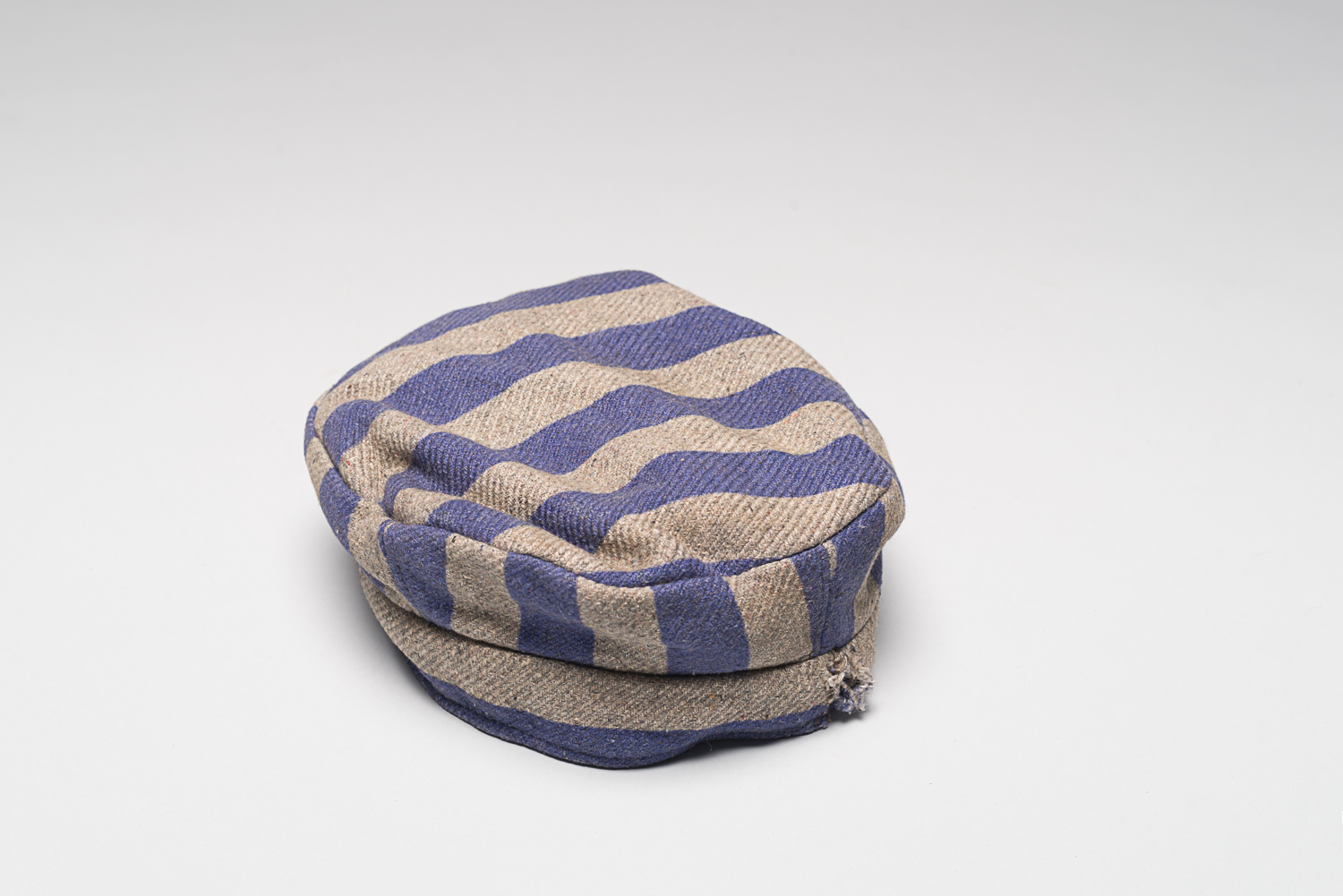 Cap from Louis Miller's uniform when he was a prisoner of the Auschwitz-Birkenau concentration camp.