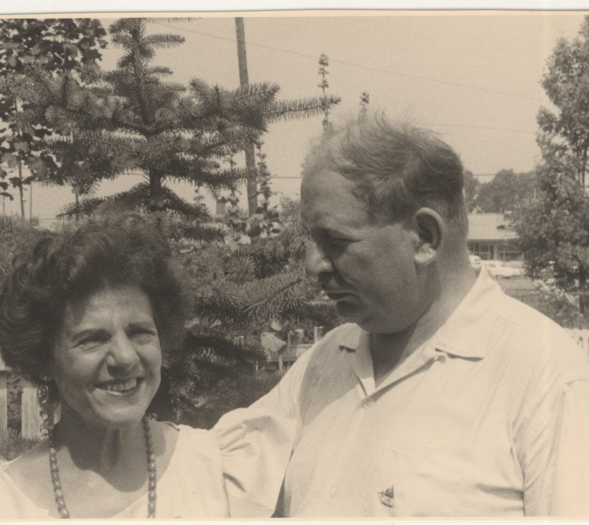 Photograph of Frida Bone and her husband in Montreal in 1951.