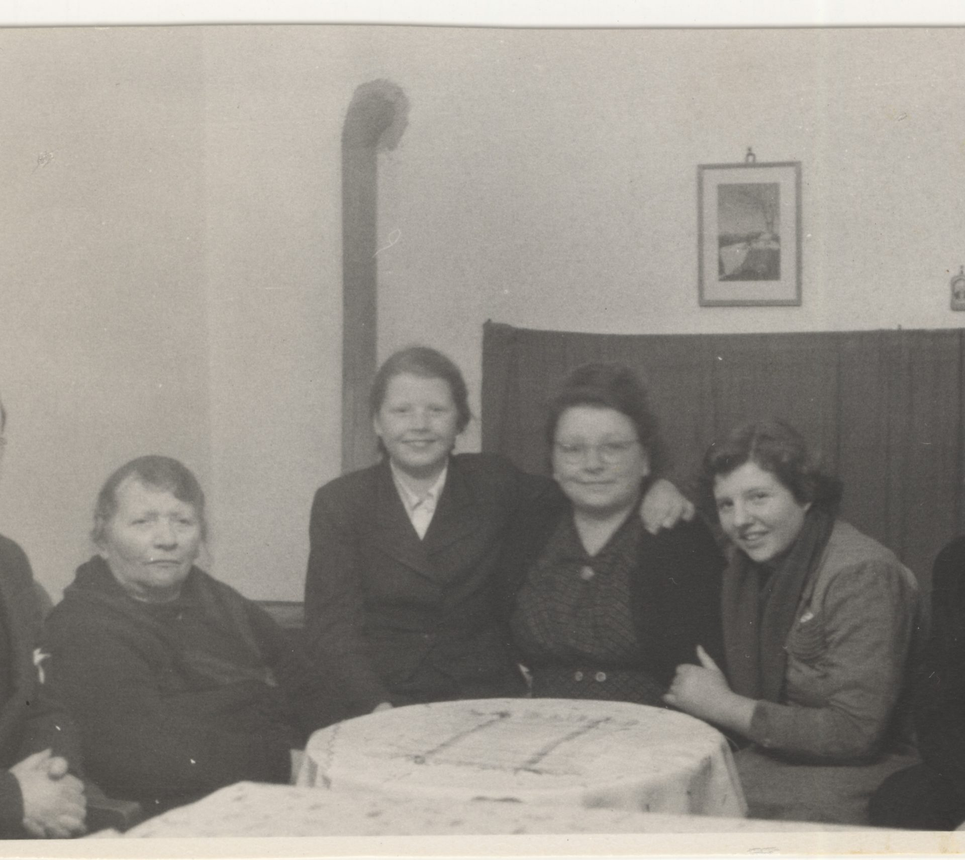 Photograph taken in Berlin before the Voelckers immigrated to Canada. Herbert is on the far left and Karen is third from the left.