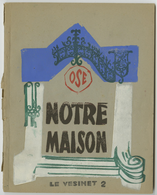 This booklet was made by residents of the OSE (''Oeuvre de Secours aux Enfants'') orphanage of Le Vésinet in France. Inside it are texts written by Jewish children who survived the Holocaust and grew up in the orphanage.
