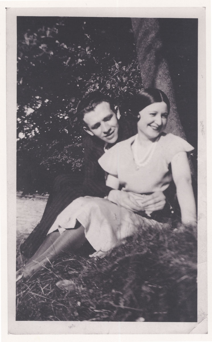 Marcel's parents, Jerma and Gitla Tenenbaum, on the day of their wedding in Brussels, 1930.