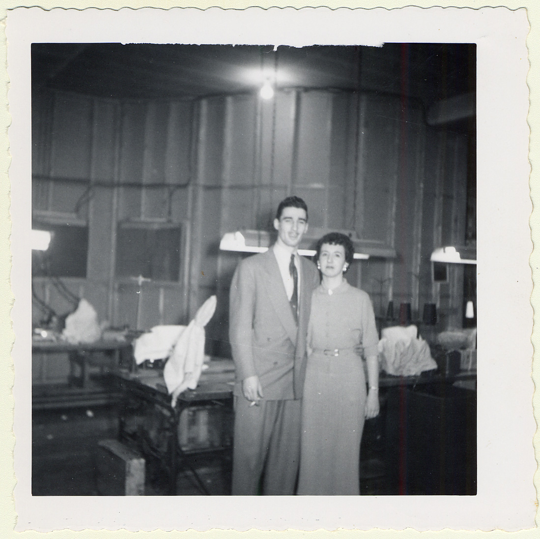 Sara Witel Winterfeldt and Oscar Morsten in Shanghai at the cafe where they met and married in April 1943.