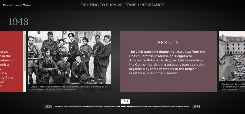 Timeline on Jewish resistance during the Holocaust
