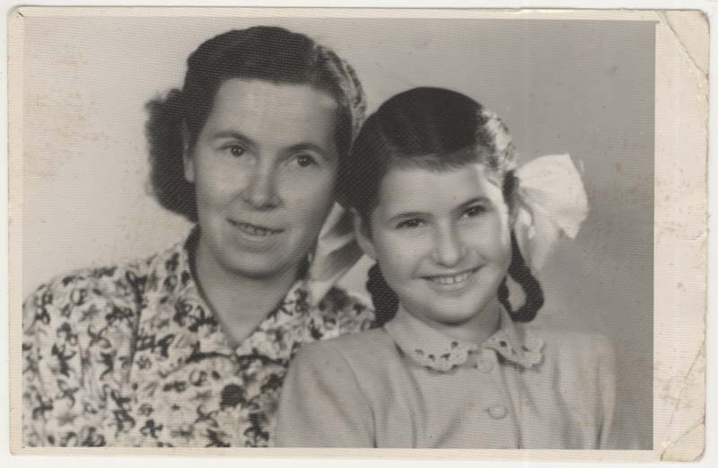This photo of Daisy and Antonia was taken in Hungary in 1951. Antonia was visiting Daisy who was living with her aunts.