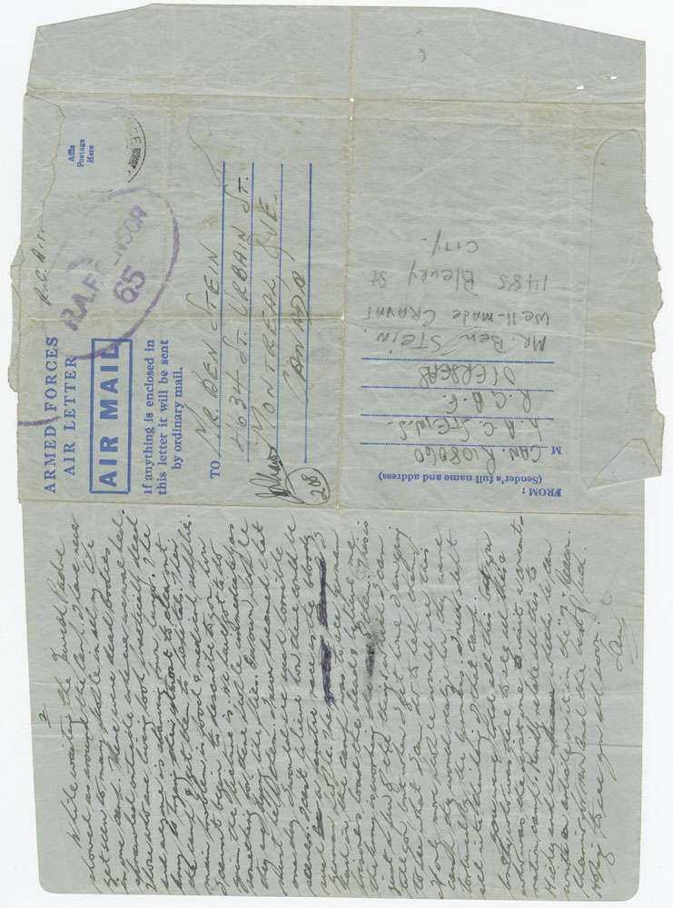 In his letter, Saul describes his first impressions of Bergen-Belsen camp, recently liberated by the Allies.