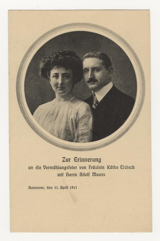 Faire-part du mariage de Käthe et Adolf Maass en 1911. Ils ont été tués à Auschwitz en 1944.