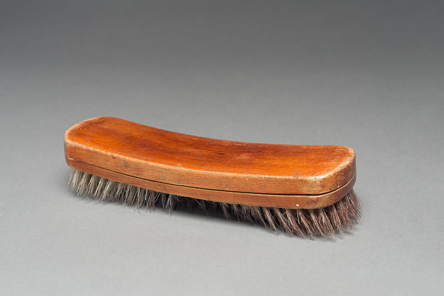 The shoe brush belonged to Chava Favor when she was imprisoned in a sub-camp of Mauthausen in Austria. (Photo: Peter Berra)