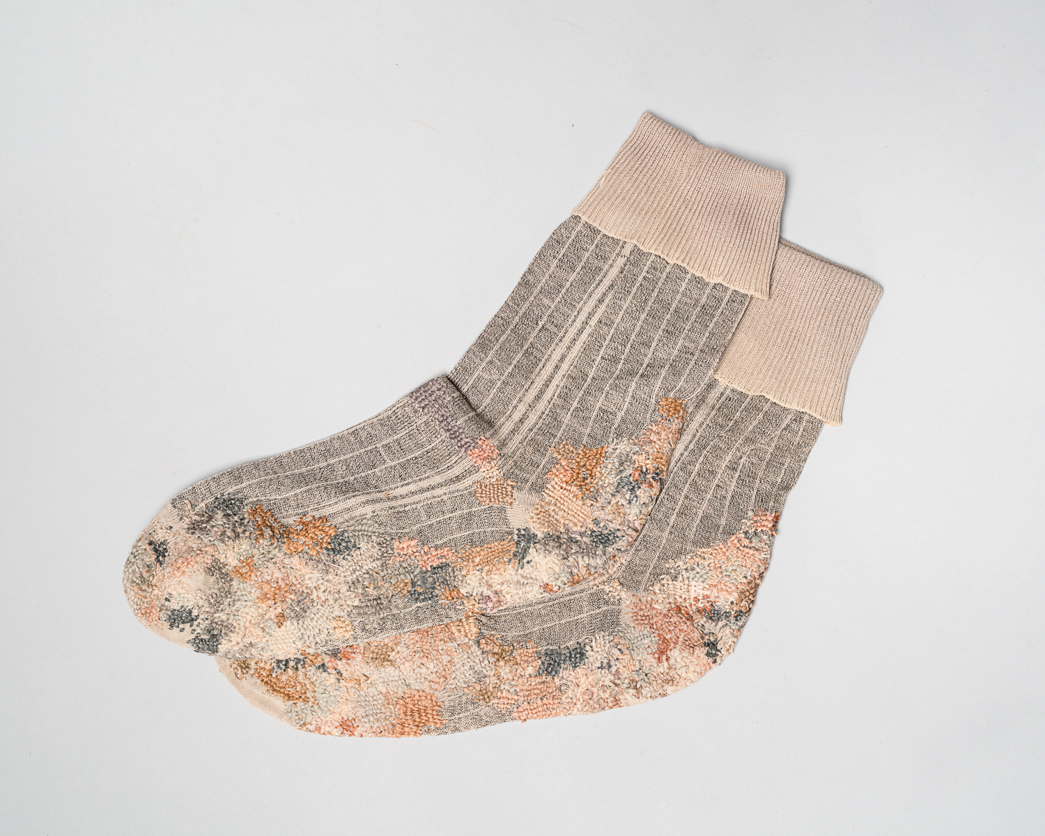 These gray socks belonged to Djuro Svarc who lived in Croatia.