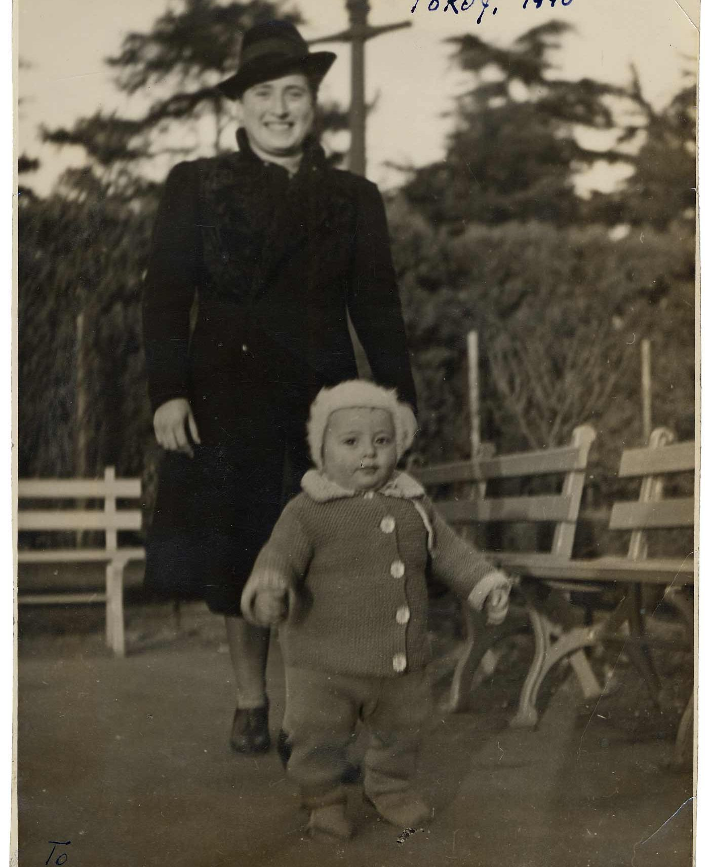 Miriam Lermer and her son Zoria in Tokyo in 1940.