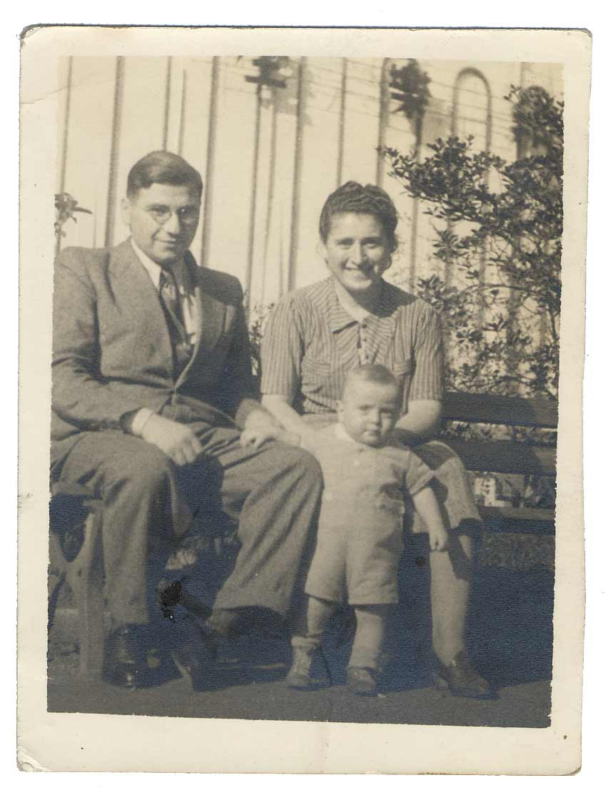 La famille Lermer réfugiée à Tokyo en 1940.