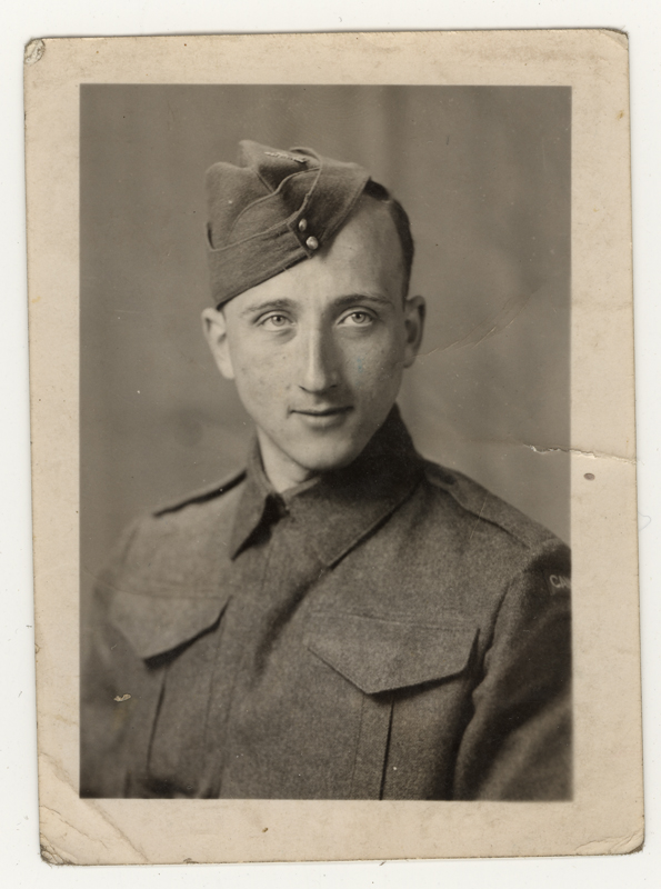 Gerhart Maass in his uniform of the Canadian Army. He enlisted in 1942.