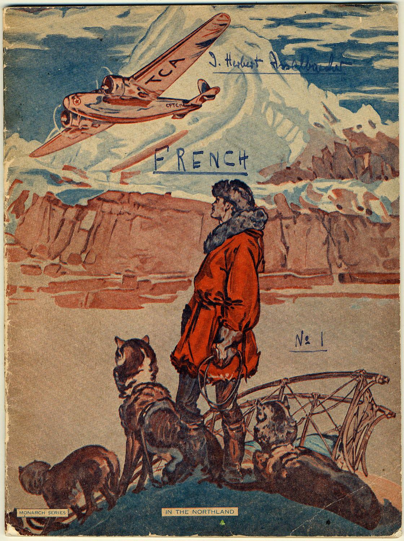 Isaac Herbert Isselbaecher a utilisé ce cahier de notes dans un camp d'internement au Québec.