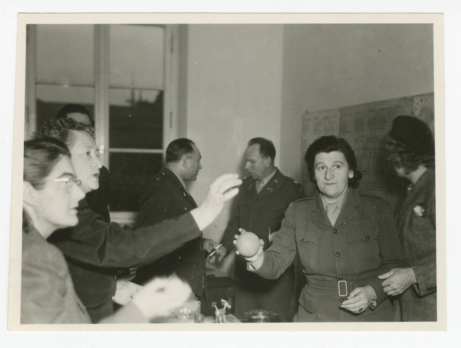 Marie Malachowski in a meeting room in Munich, located in the American sector of post-war Germany.