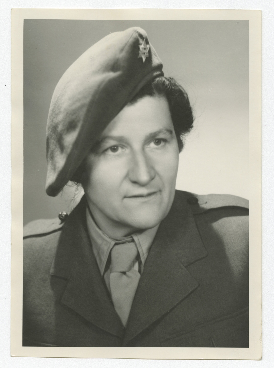 Marie Malachowski in her British Army uniform after the war.