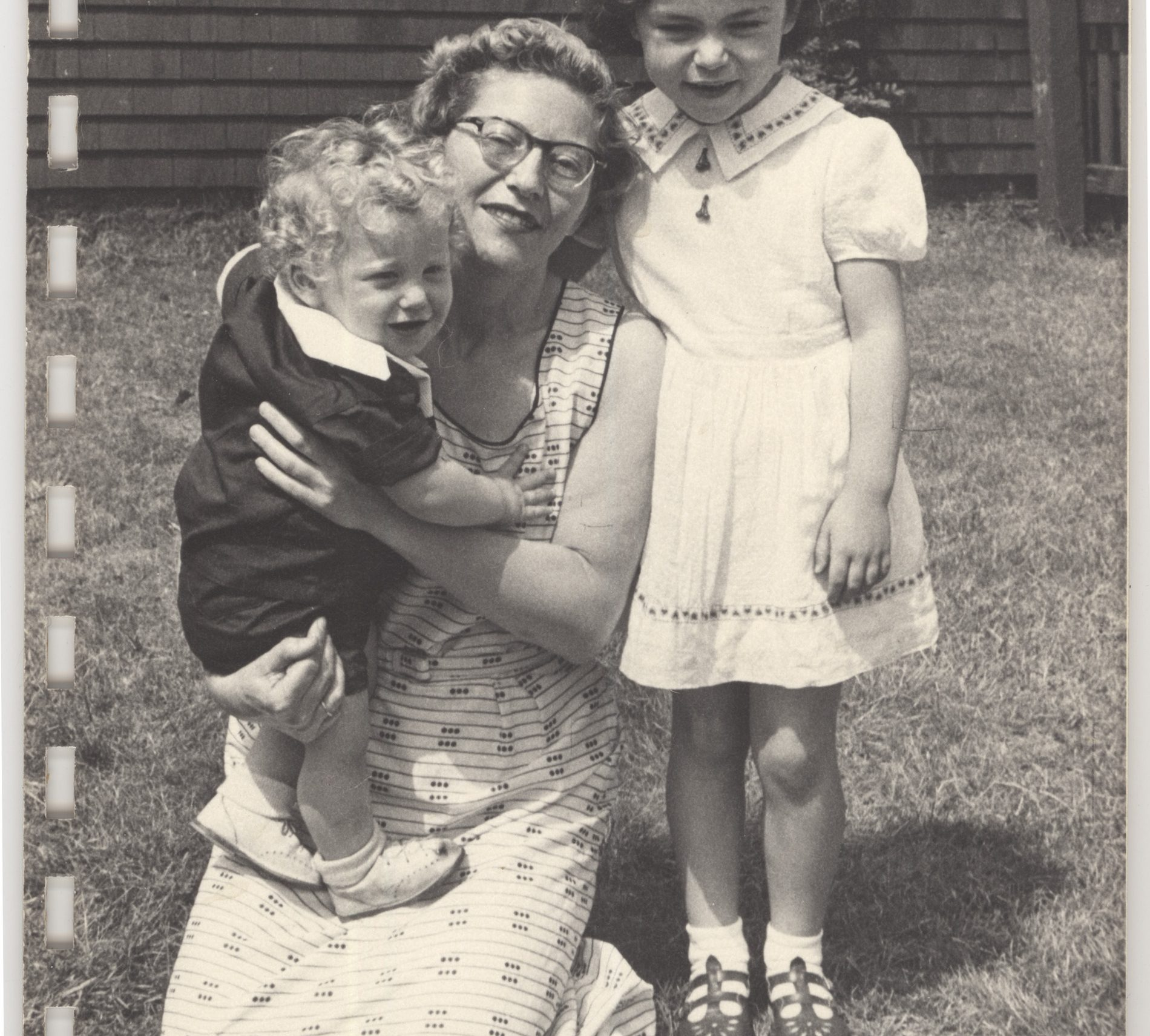 Martha, her daughter Irene and son Alexander, photographed in 1954 in Canada.