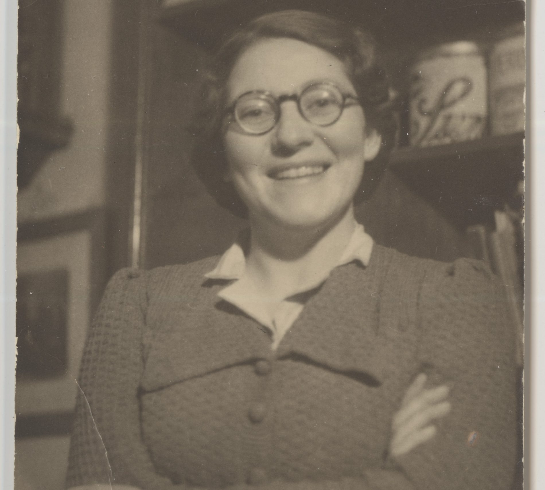 Martha Blum working in a pharmacy in 1933.