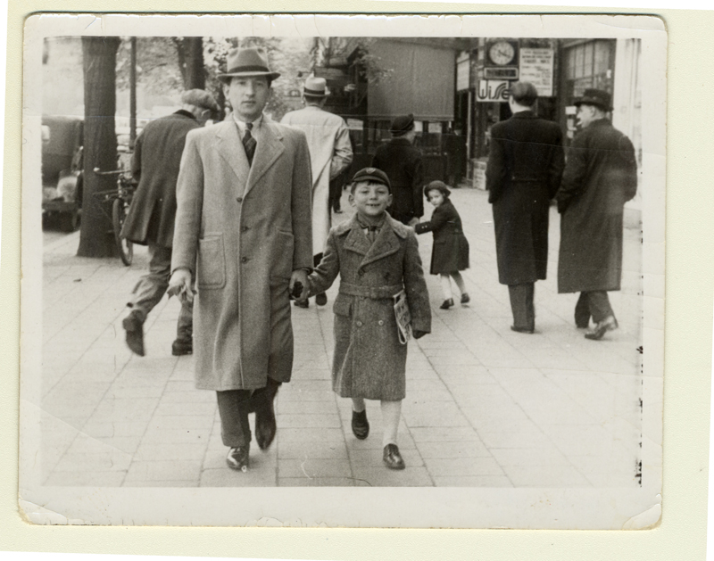 Maurice and his father Sam Shenkier in 1939.