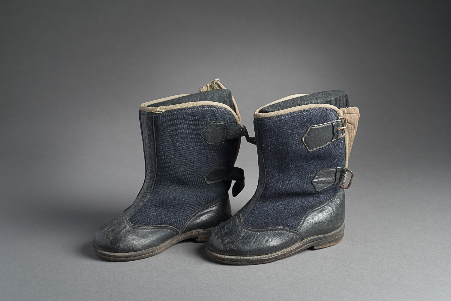 These baby boots were made for Max Beer when he was a child. (Photo: Peter Berra)