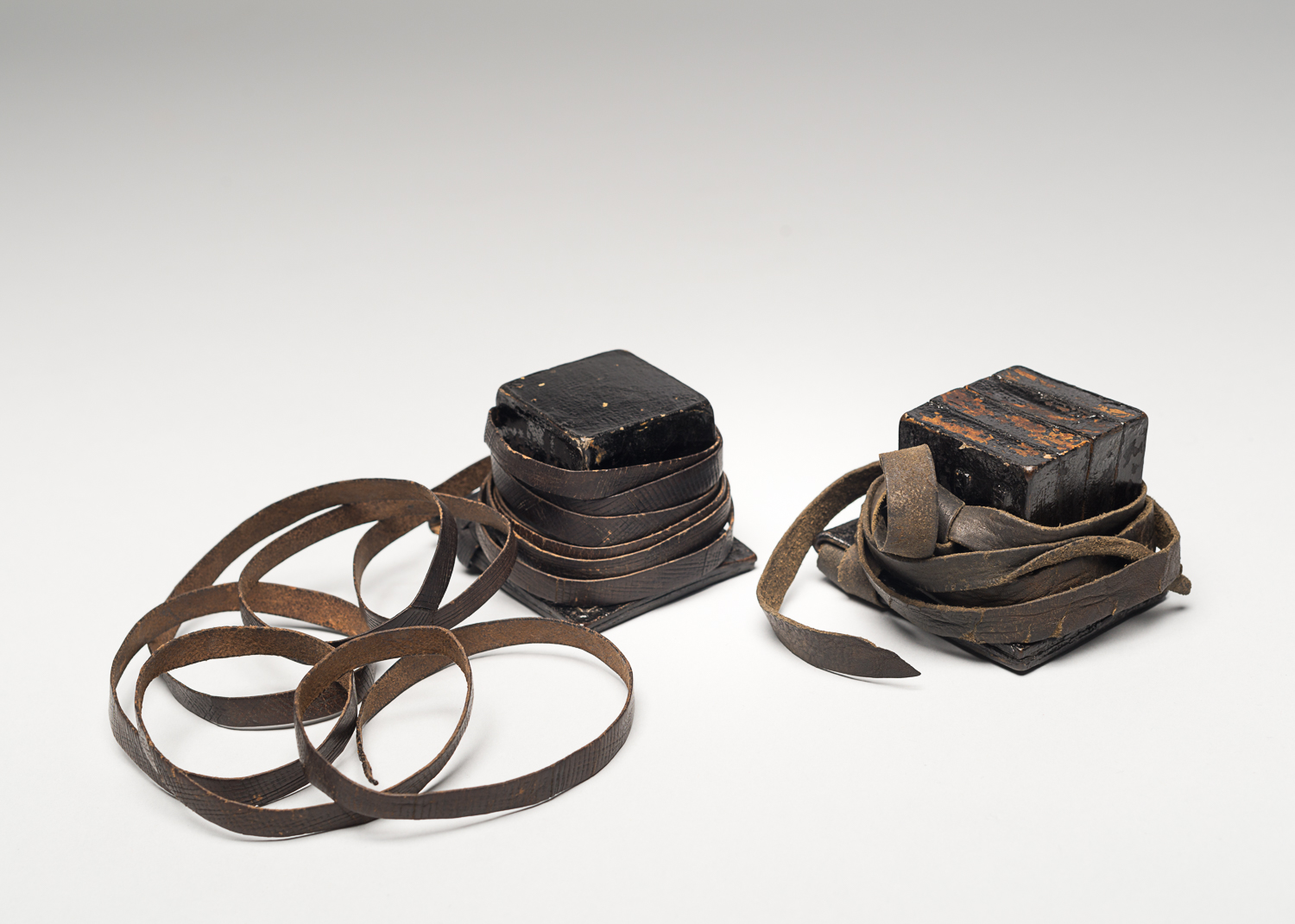 Anna, Simon's mother, gave him these tefillin before he departed with the Kindertransport.