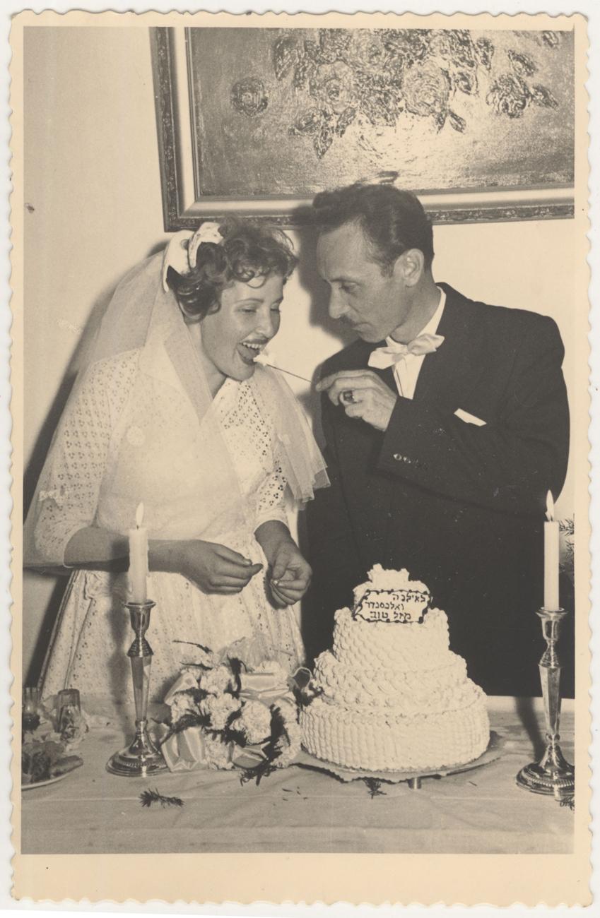 Ilana et Alexander Izso le jour de leur mariage.
