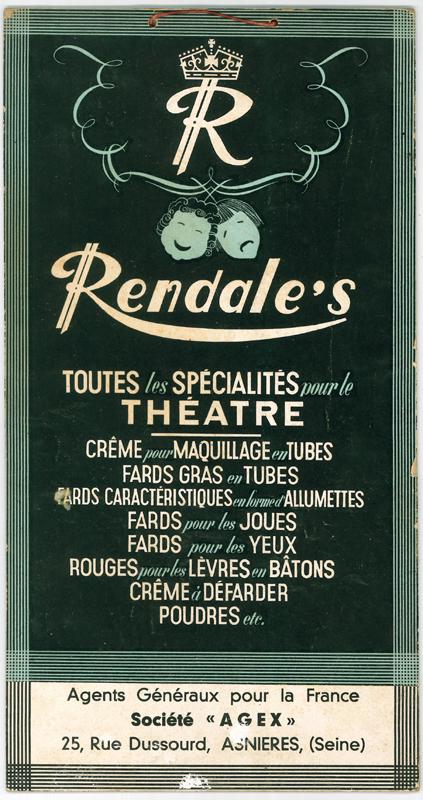 Une affiche publicitaire des cosmétiques de la compagnie Rendale diffusée en France.