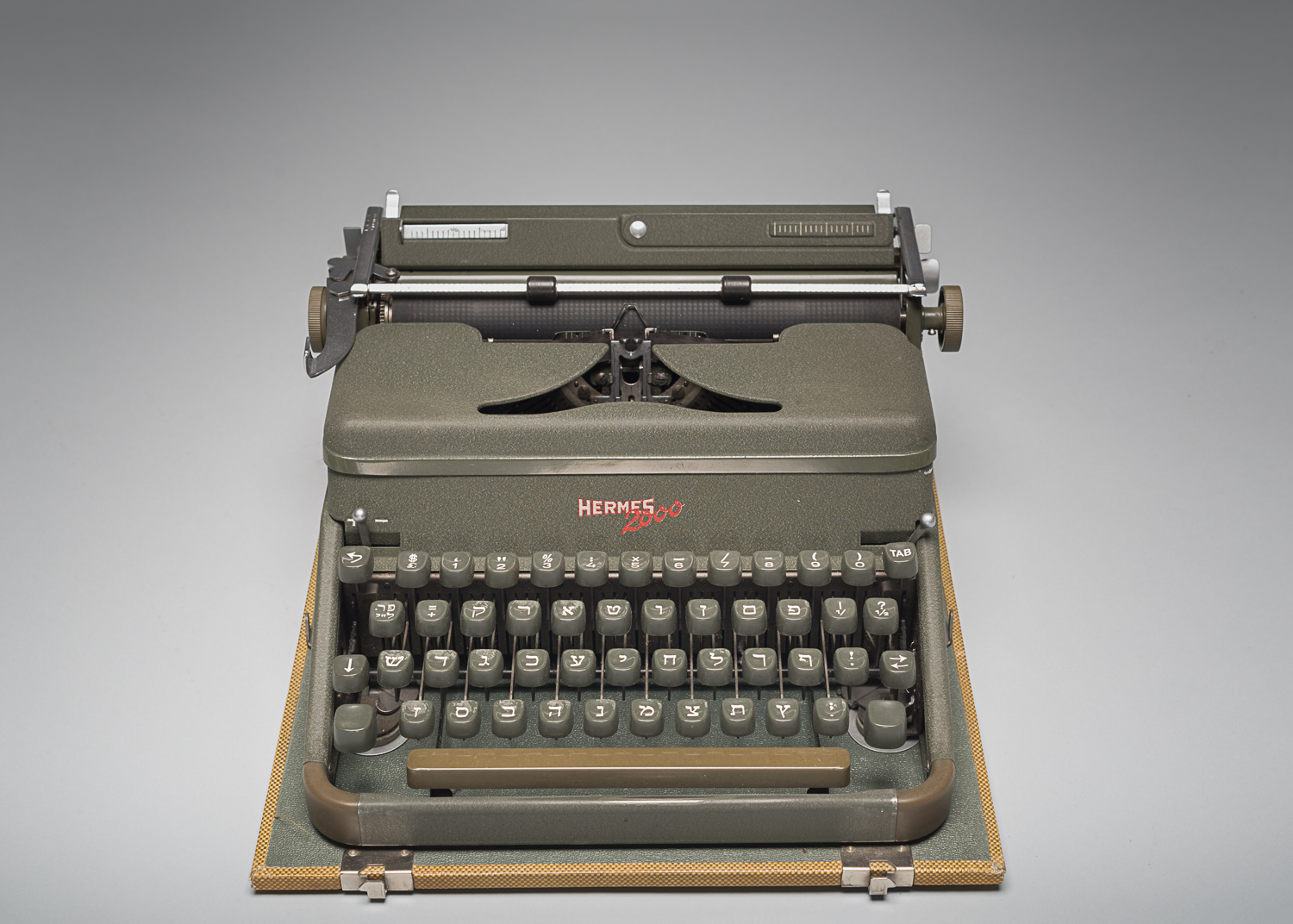 This Hermes 2000 typewriter has the characters of the Hebrew alphabet.  (Photo: Peter Berra)