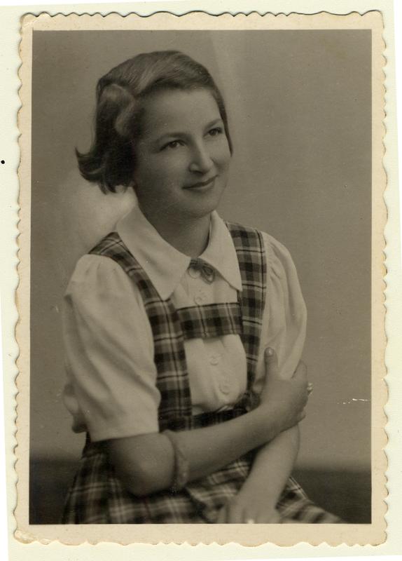 Un portrait de Liselotte Epstein en 1938