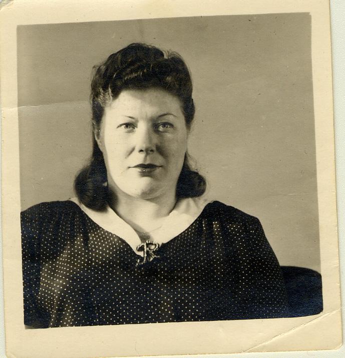 Pola Reich portrait after the war, circa 1947.