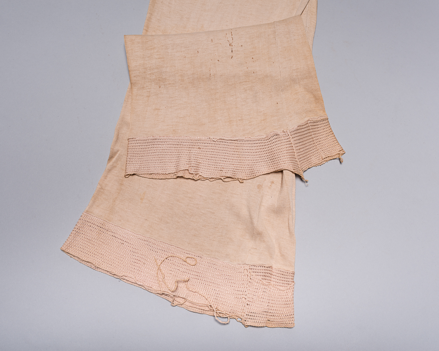 Pola was wearing these undergarments, as pants, up until and during her liberation in November 1944. (Photo: Peter Berra)