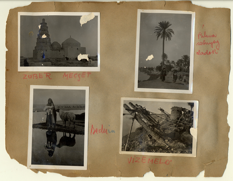 Une page de l'album de Julianna Vadasz avec des photographies prises lors de leur séjour en Afrique.