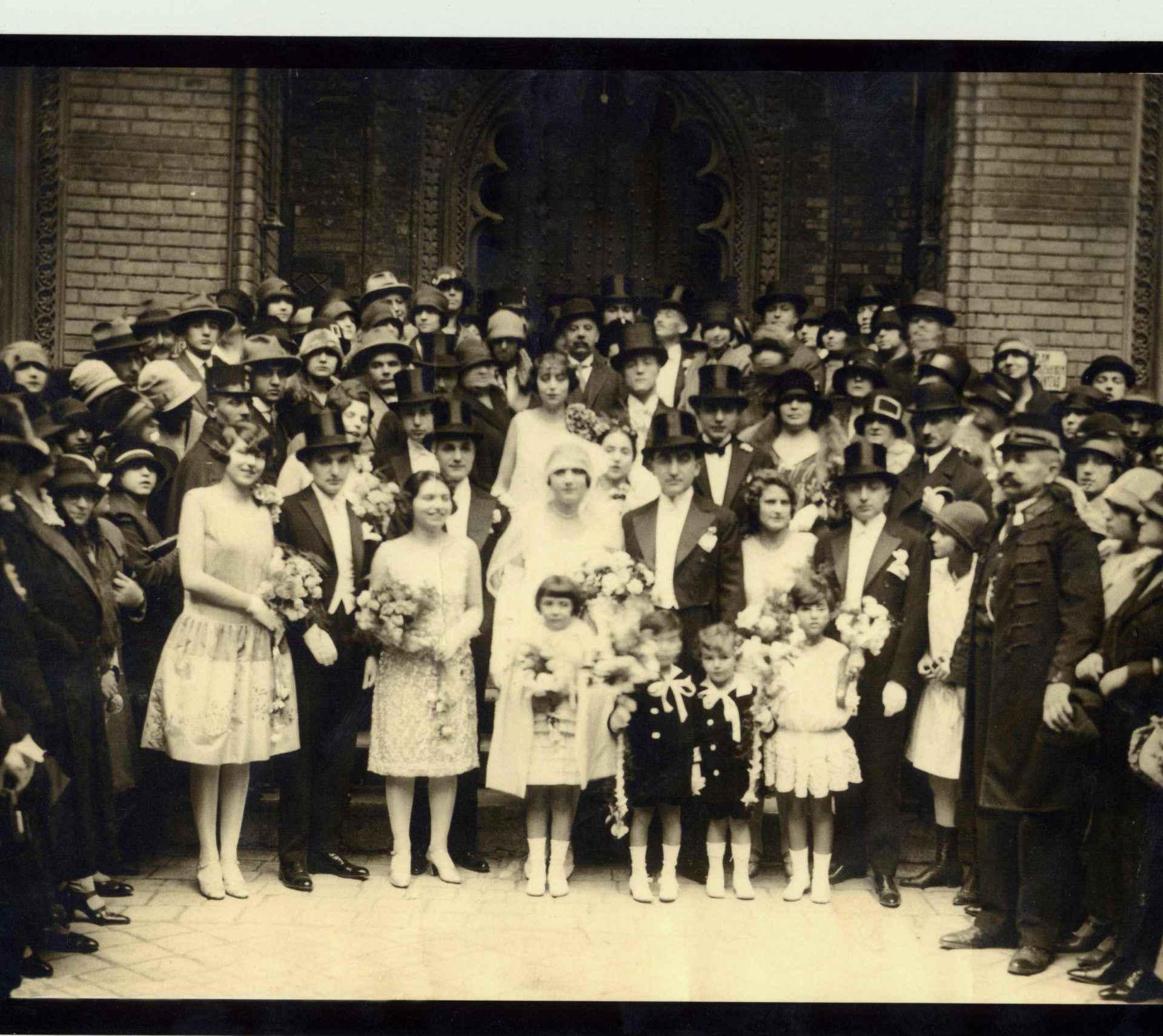 Wedding of Zigmund Barna and Elisabeth Molnar, Budapest, 1926.