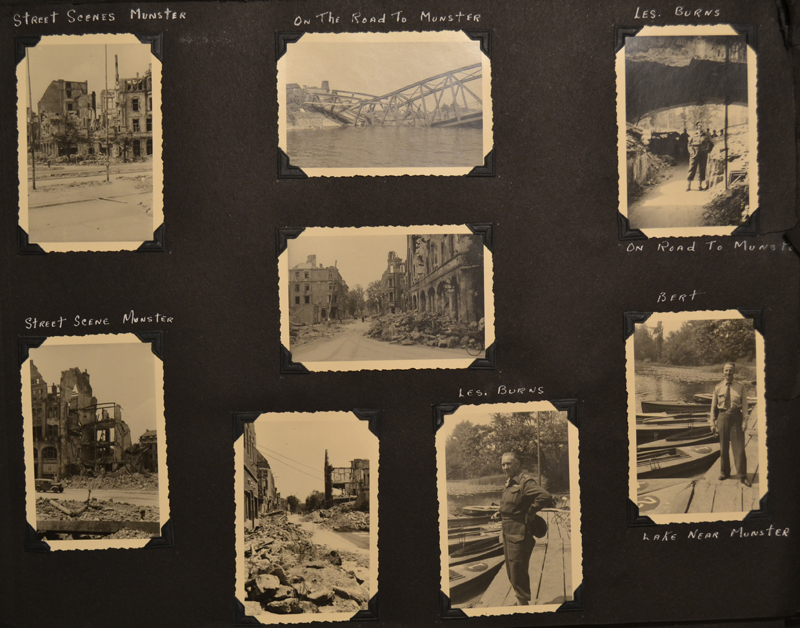 Photographs on this page depict the state of the city of Münster, Germany, after the war.