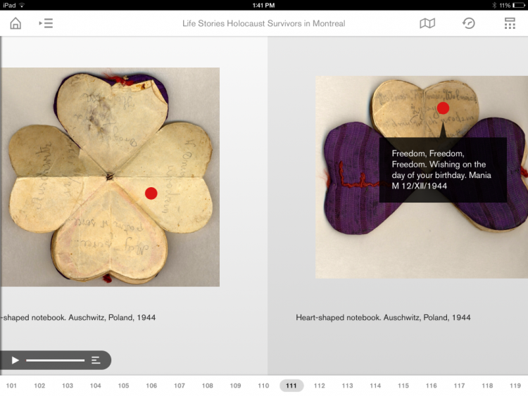Discover more about artefacts with the Montreal Holocaust Museum's app.