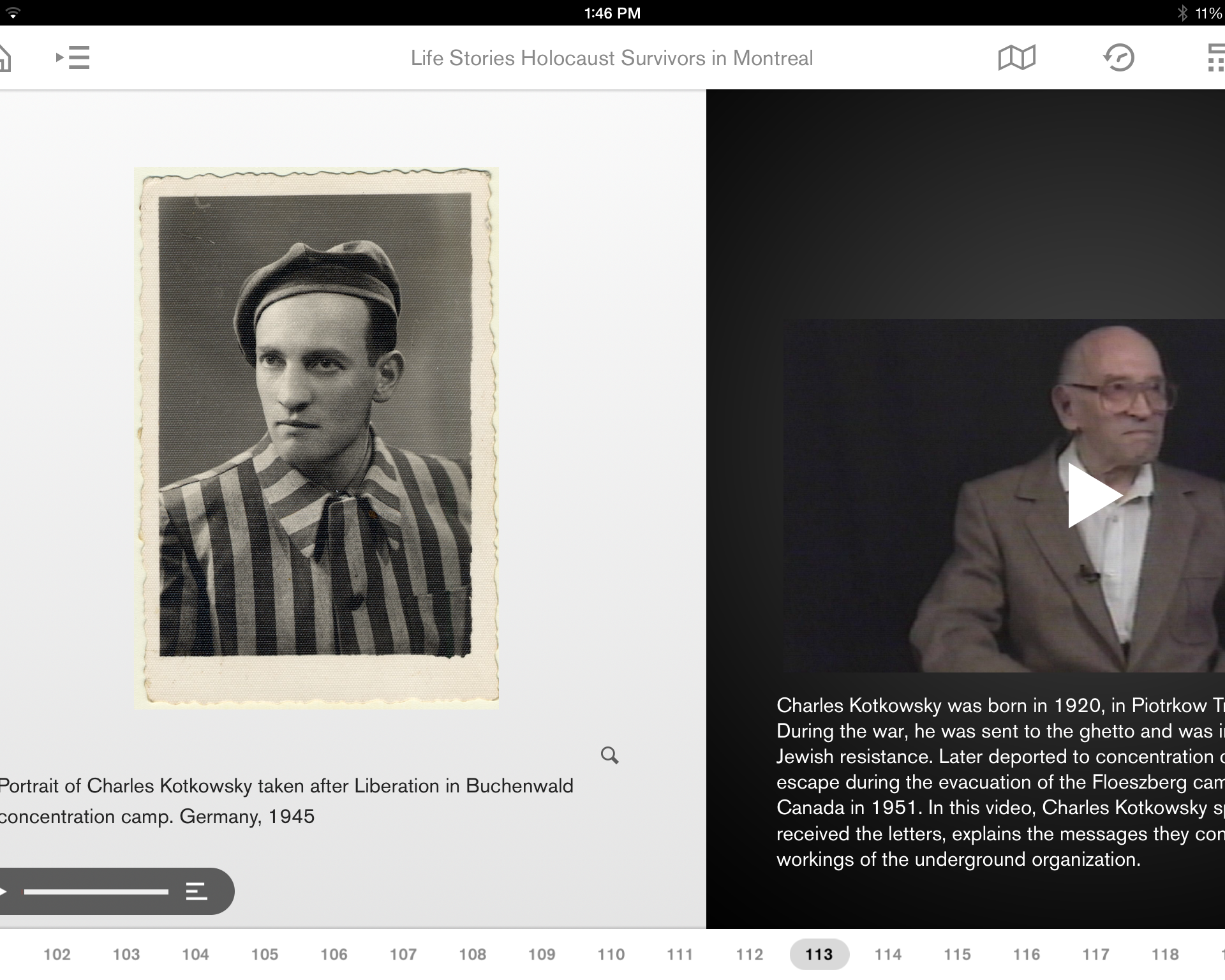 Find more survivors' testimonies in the Montreal Holocaust Museum's app.