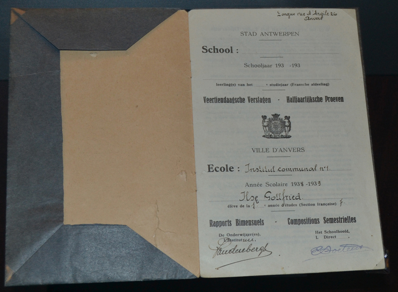 Ilse Gottfried (Matalon) notebook from when she attended school in Belgium.